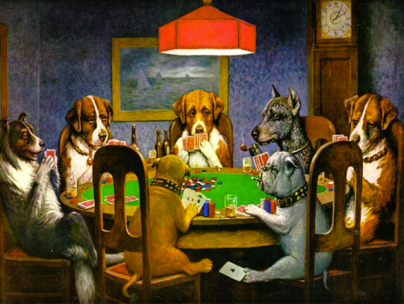 Dogs playing Poker - C.M.Coolidge