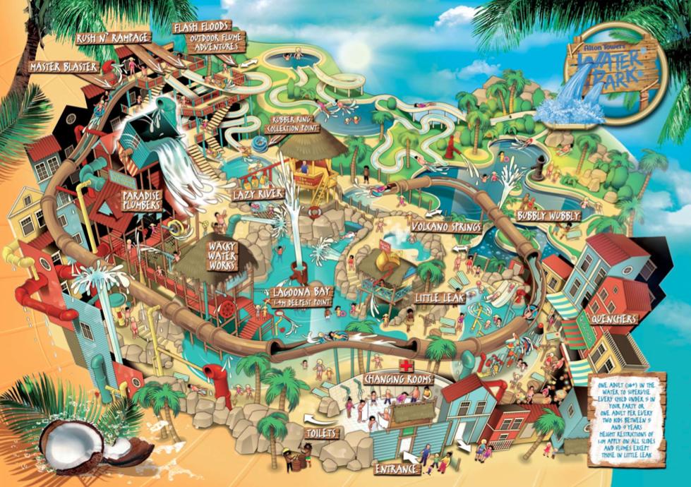 Exploring Maps U2026  Of A Theme Park