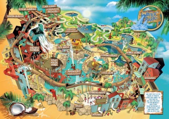 Water Park map